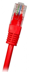 CAT6 UTP RJ45 0.5m RED Patch Cable, 24AWG LSZH