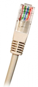 CAT6 UTP RJ45 3m GREY Patch Cable, 24AWG LSZH