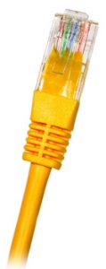 CAT6 UTP RJ45 3m YELLOW Patch Cable, 24AWG LSZH